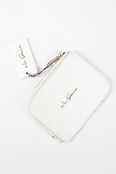 White Zippered Wallet