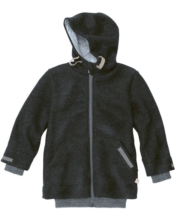 Boiled Wool Outdoor Jacket | Anthracite