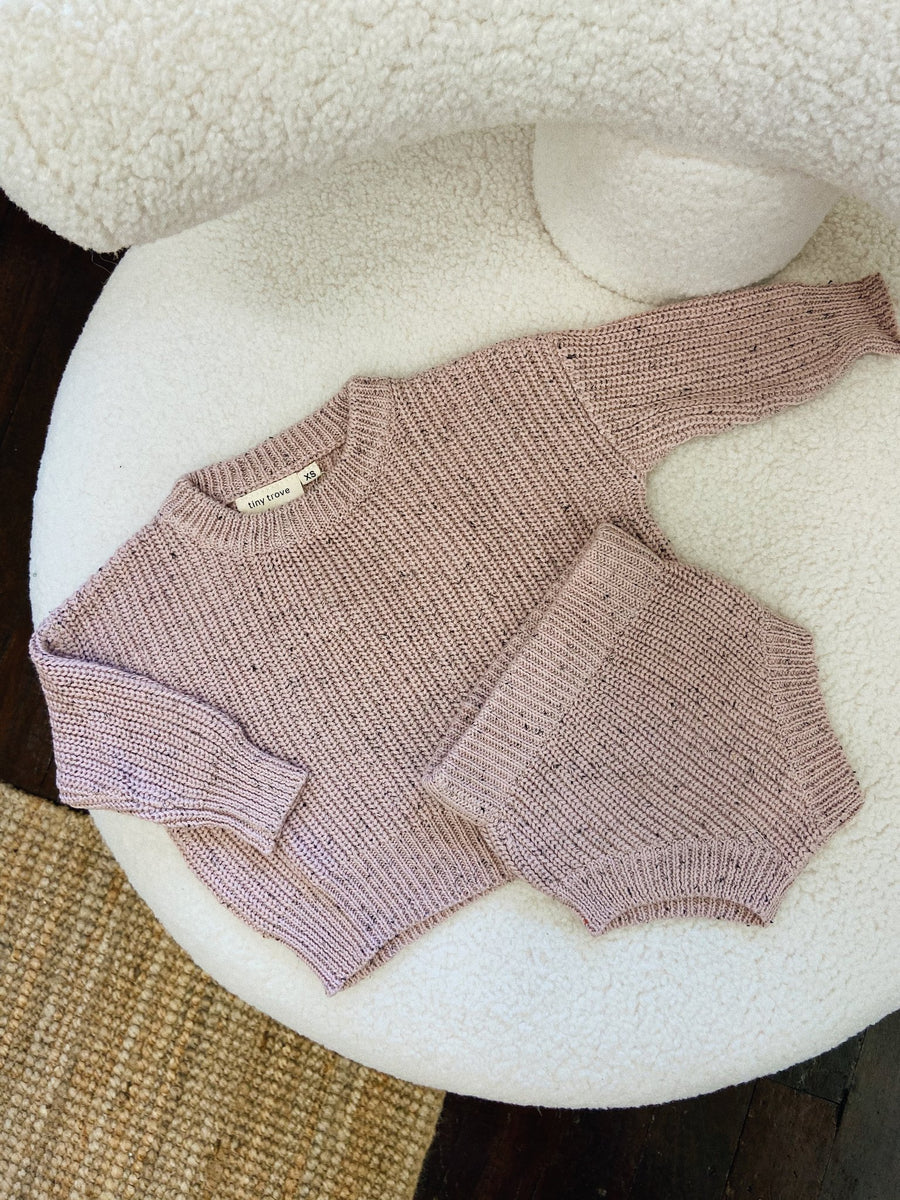 Sprinkle Knit Set | Rose