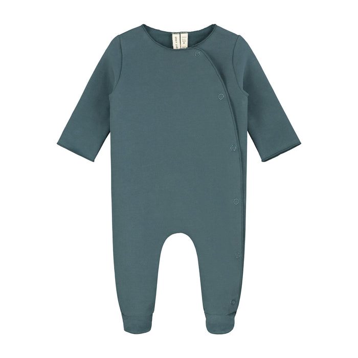Newborn Suit with Snaps | Blue Grey