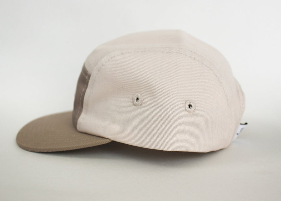 Cotton Five-Panel Hat | Sand