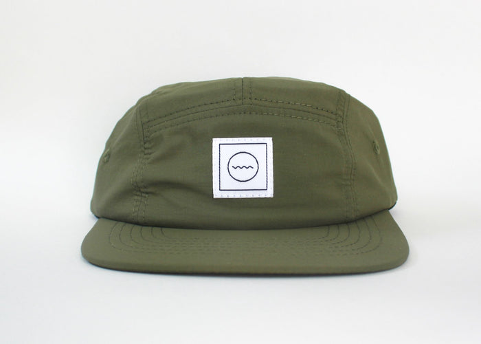 Nylon Five-Panel Hat | Moss