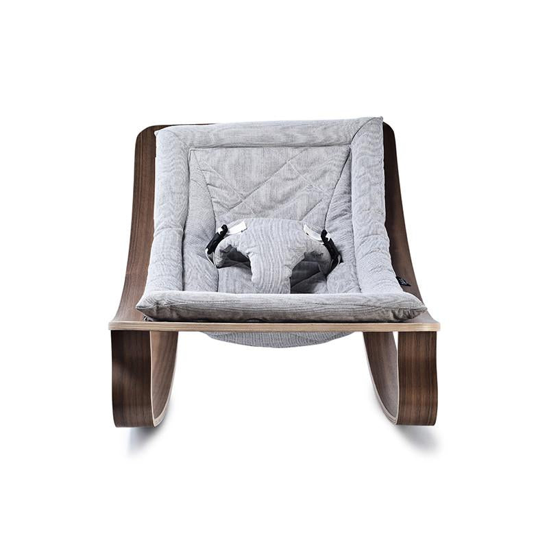 Levo Rocker | Walnut + Sweet Grey