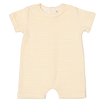 Magnolia Terry Towel Playsuit | Lemon Stripe