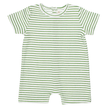 Magnolia Terry Towel Playsuit | Fern Stripe