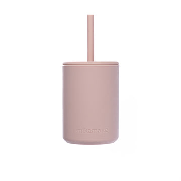 Silicone Straw Cup | Dusty Pink