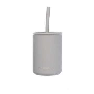 Silicone Straw Cup | Light Grey