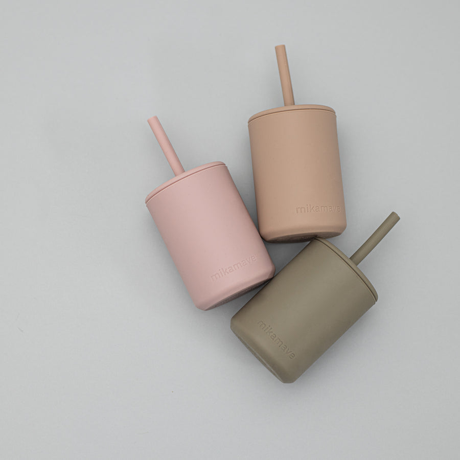 Silicone Straw Cup | Olive