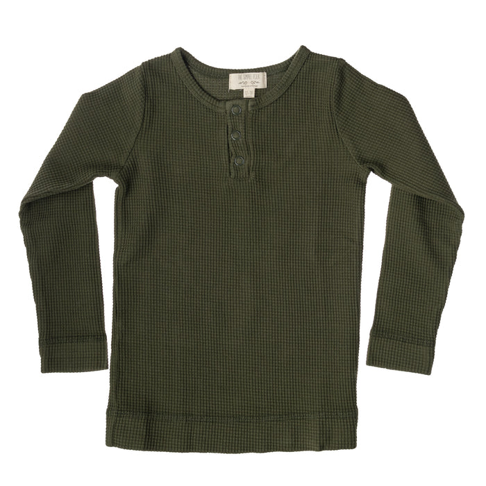 The Waffle Top | Dark Olive