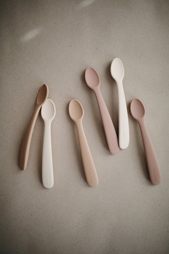 Silicone Spoon Set | Shifting Sand + Blush