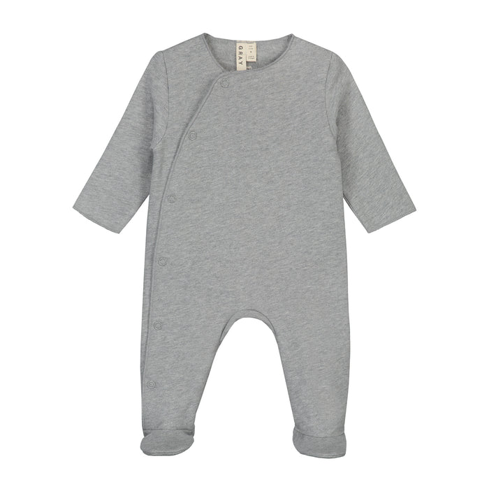 Newborn Suit with Snaps | Grey Melange