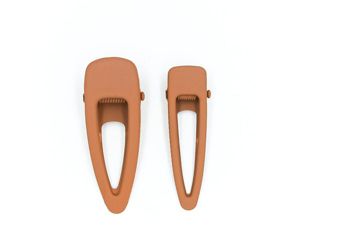 Matte Hair Clip Set | Rust