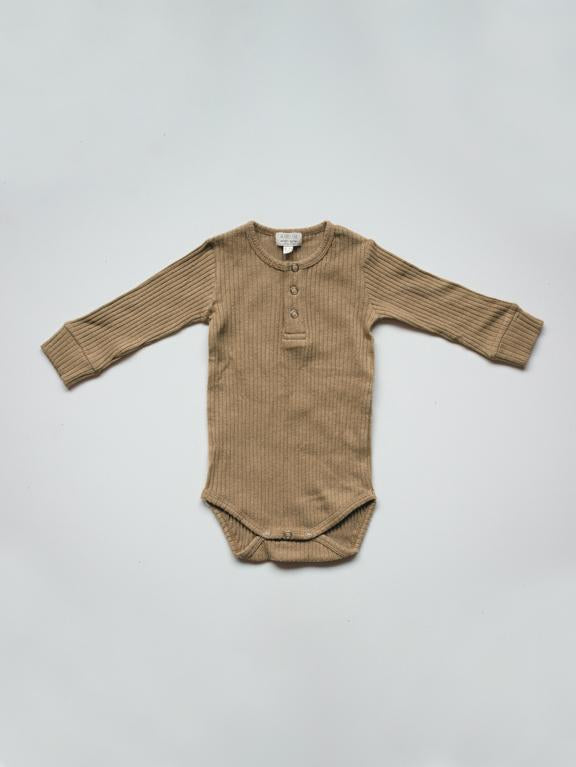 The Ribbed Onesie | Camel