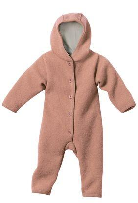 Boiled Wool Baby Overall | Rose