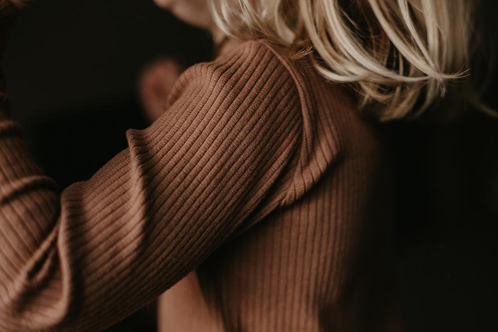 The Ribbed Top | Cinnamon