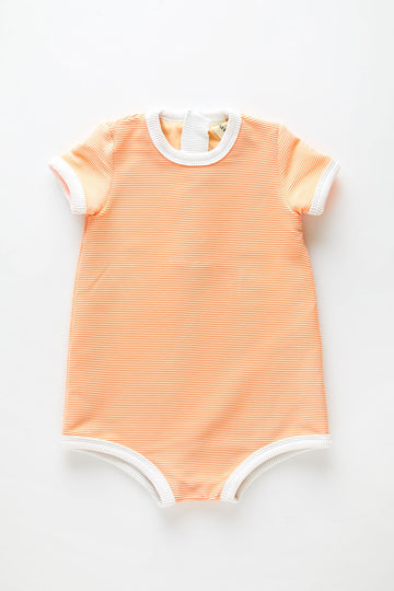 Mini Rib Onesie | Grapefruit