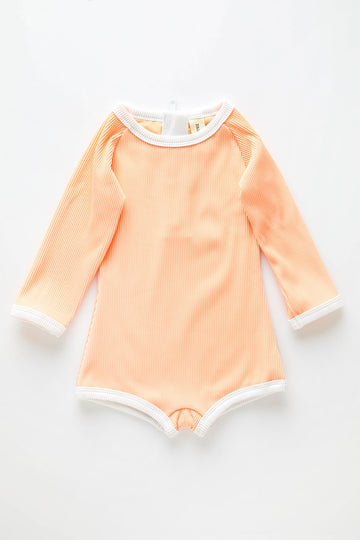 Mini Rashie Onesie | Grapefruit