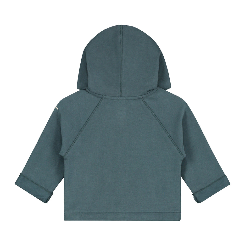 Baby Hooded Sweatshirt | Blue Grey