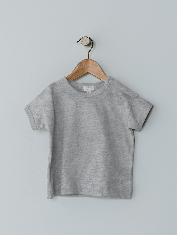 The Boxy Tee | Grey Melange