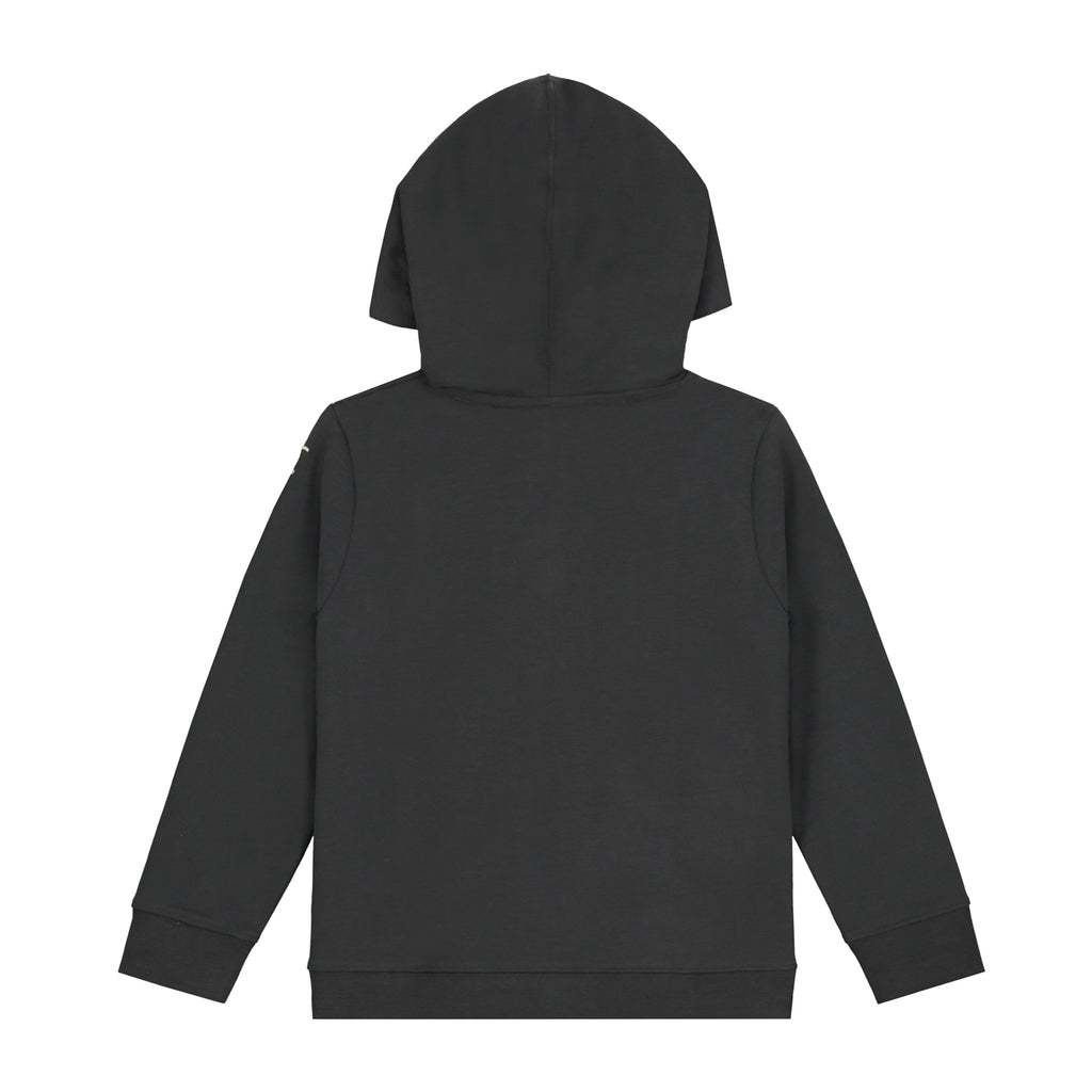 Hooded Button Sweatshirt | Nearly Black