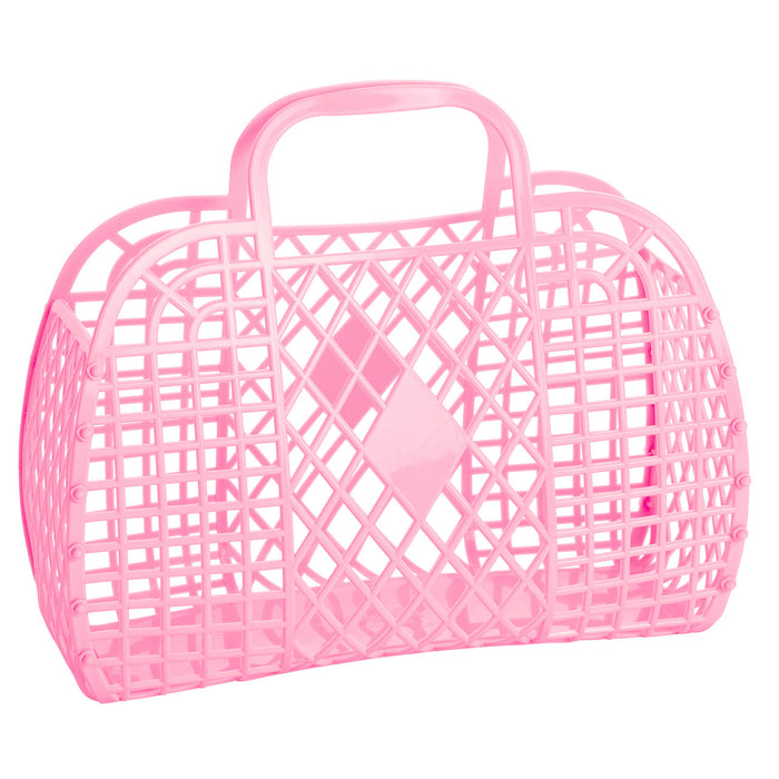 Large Retro Basket | Bubblegum Pink