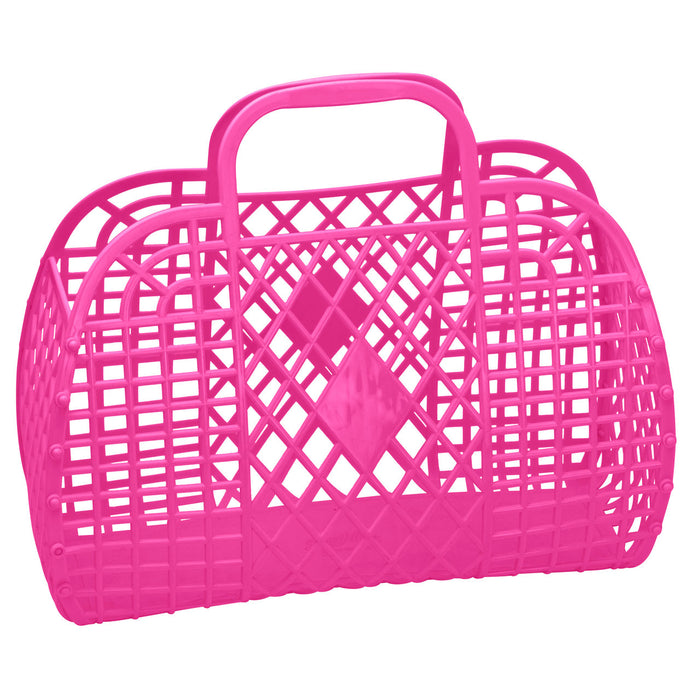 Large Retro Basket | Hot Pink
