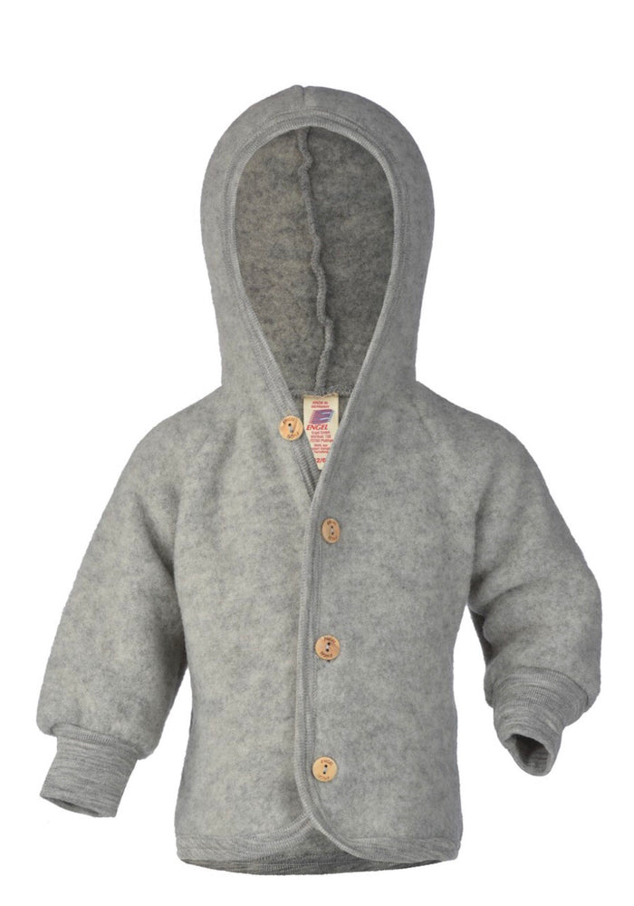 Wool Fleece Hooded Jacket | Grey