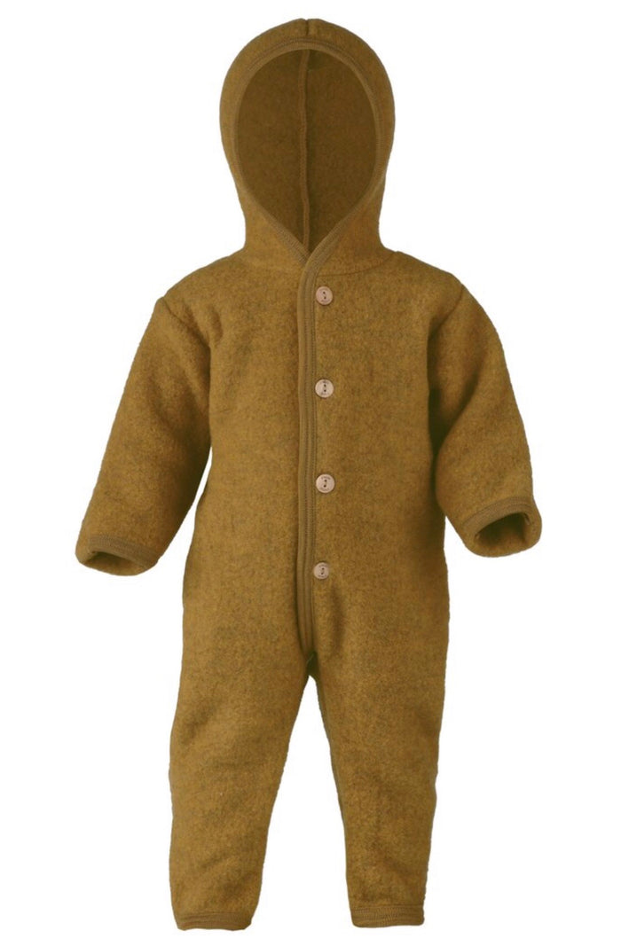 Wool Fleece Baby Overall | Saffron