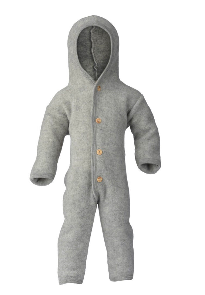 Wool Fleece Baby Overall | Grey
