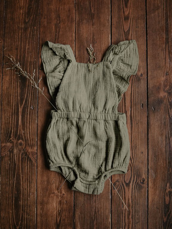 The Ruffle Romper | Sage