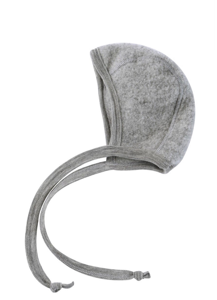 Wool Fleece Baby Bonnet | Grey