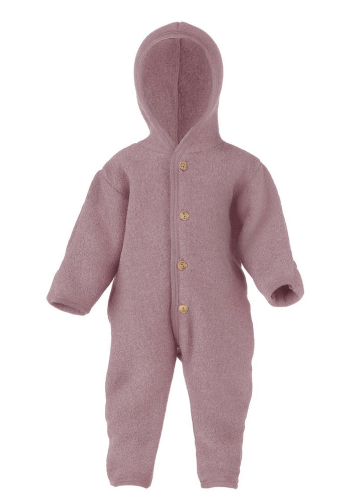 Wool Fleece Baby Overall | Lilac Rose
