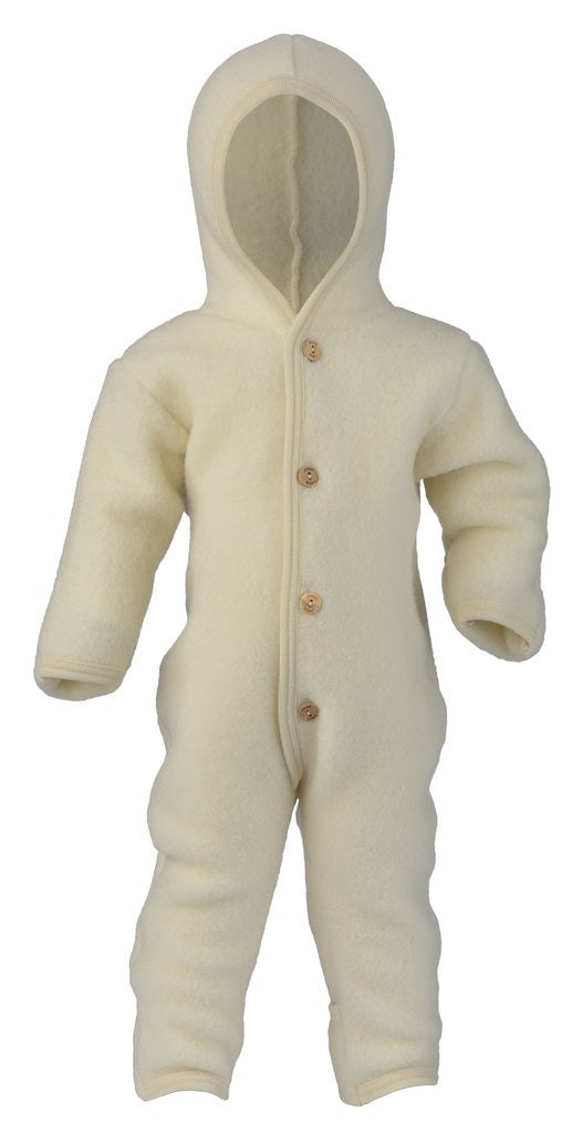 Wool Fleece Baby Overall | Natural