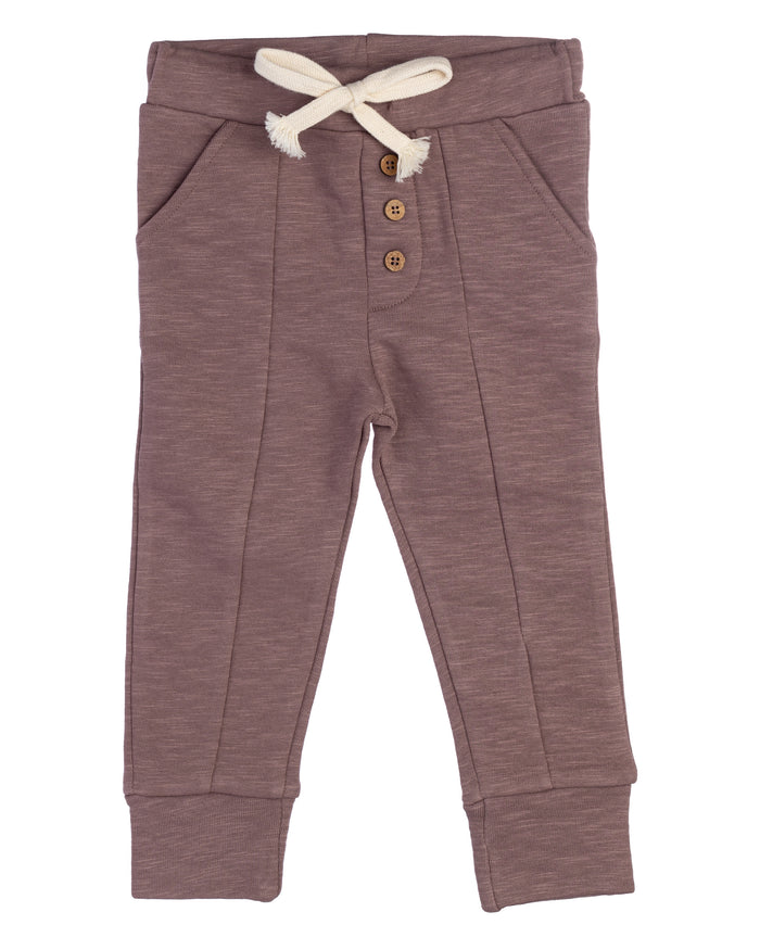 Button Joggers | Faded Fig