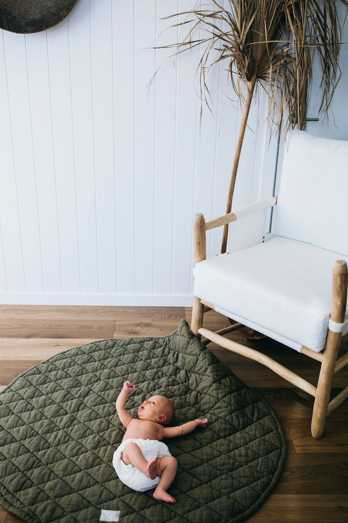 Linen Baby Playmat | Olive