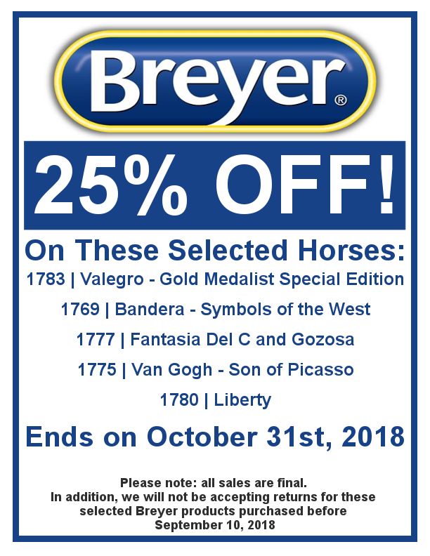 Breyer 25% Off Sale on Selected Horses!