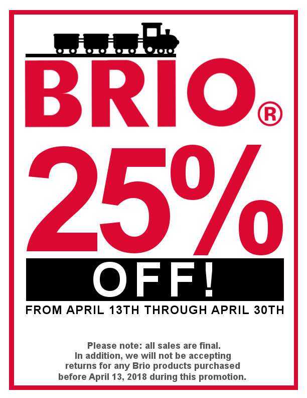 Everything BRIO is 25% Off!
