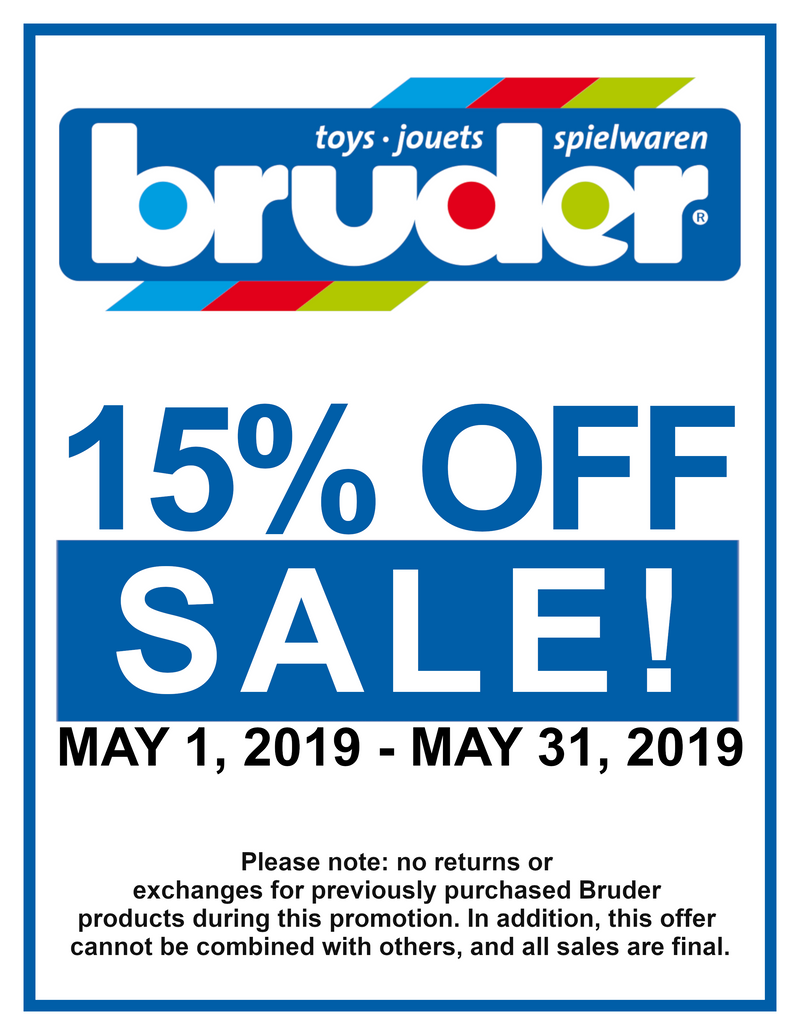 Bruder 15% Off May Sale