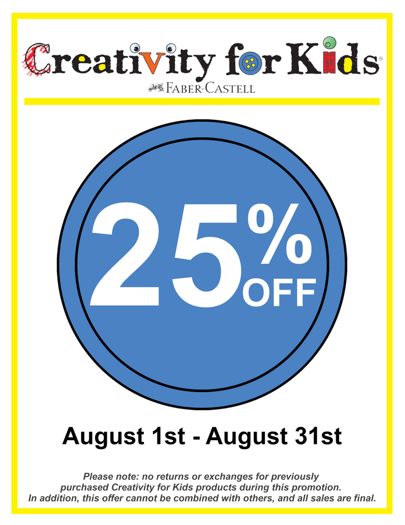 Creativity for Kids 25% Off Sale