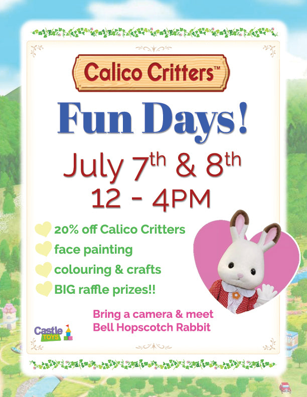 Announcing the 2017 Calico Critters Sale and Event Raffle Winners!