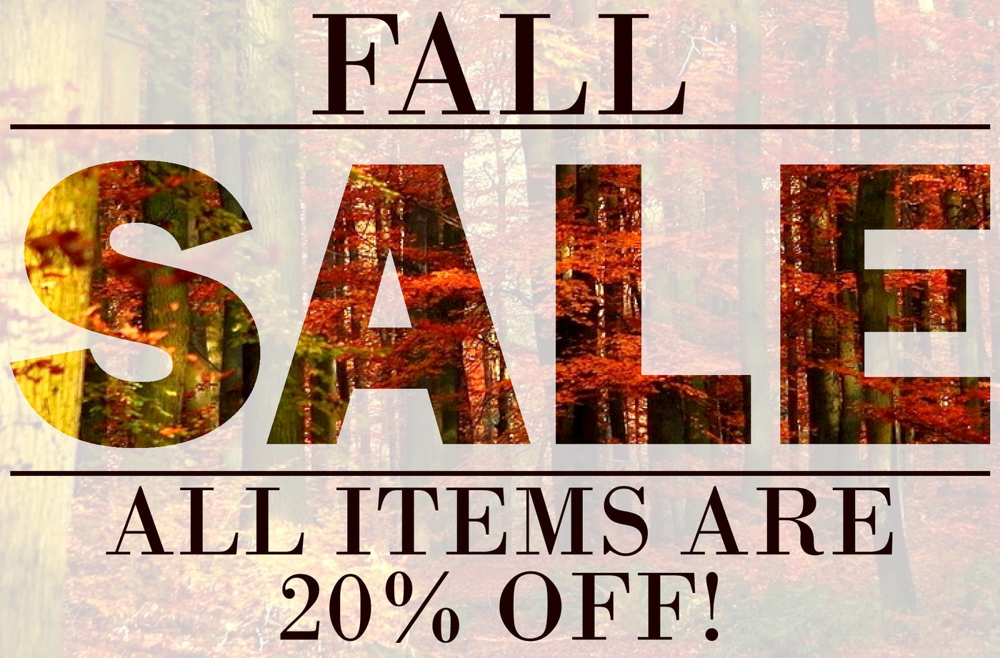 Fall Sale is Here and Raffle Prizes!