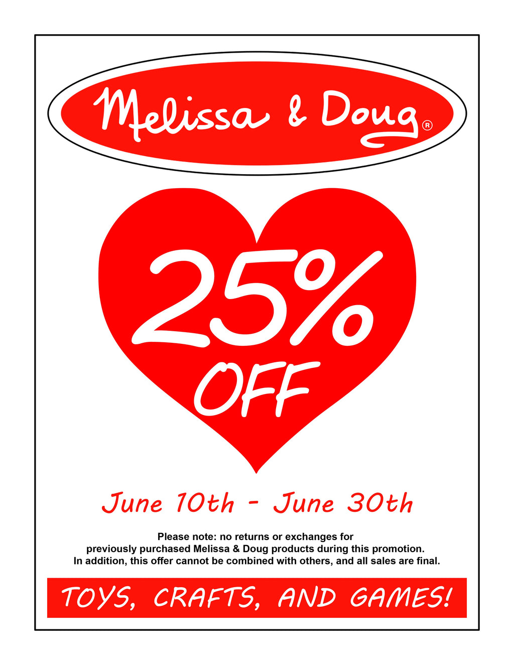 Melissa & Doug June Sale