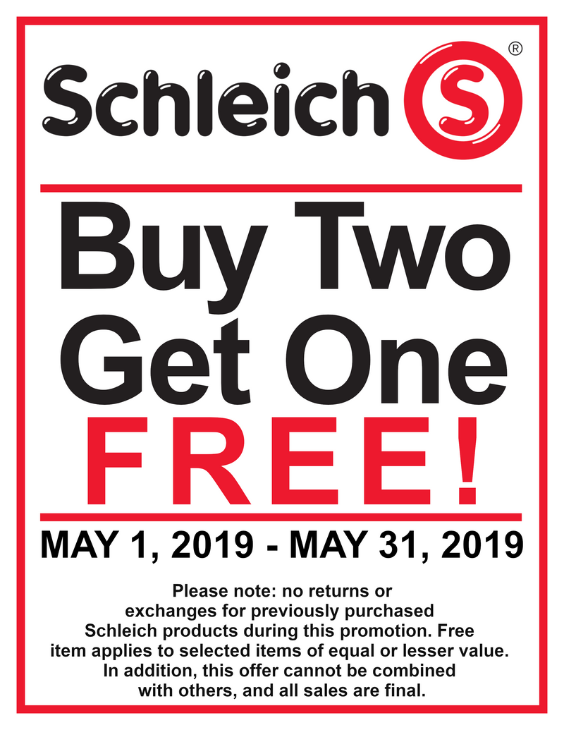 Schleich Buy Two Get One Free May Sale