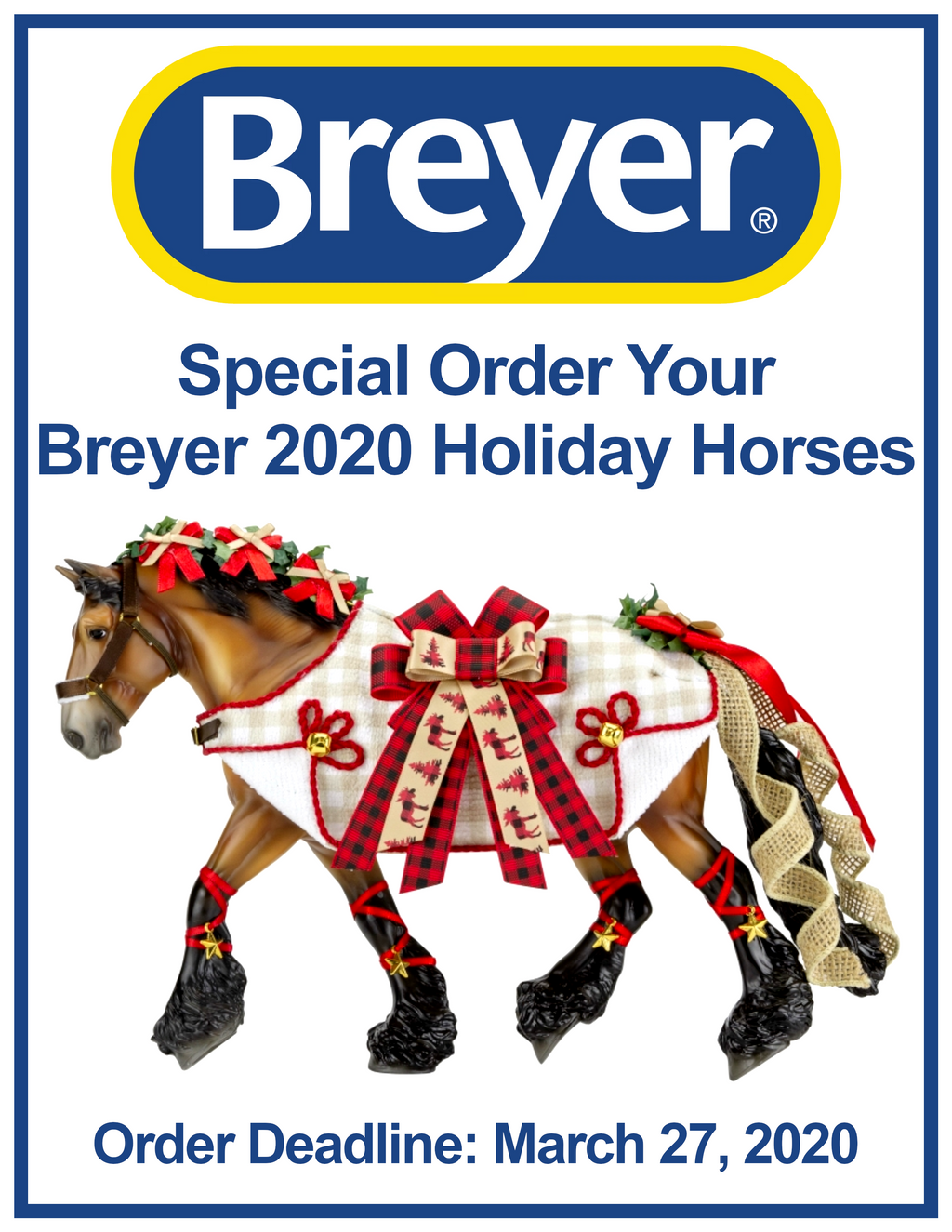 Special Order Your Breyer 2020 Holiday Horses