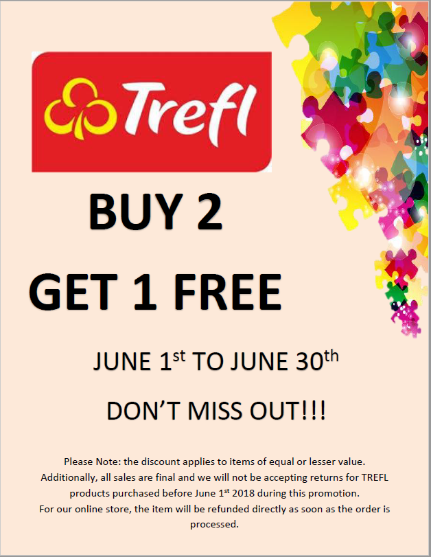 All TREFL Products BUY 1 GET 1 FREE