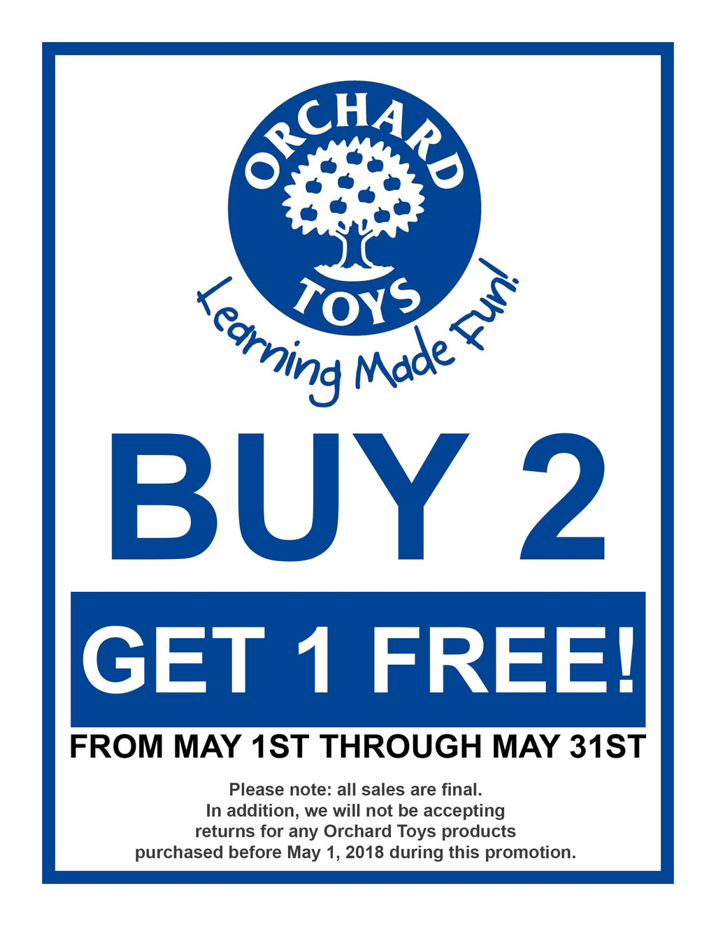 Orchard Toys: Buy 2 Get 1 Free