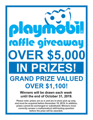 Castle Toys: Playmobil Raffle Giveaway - Grand Prize Winner!