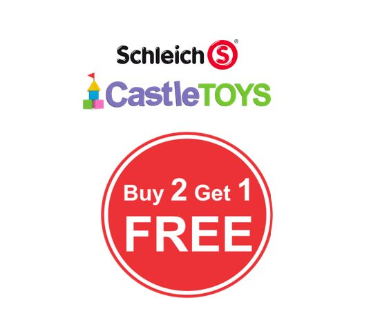 ALL SCHLEICH IS BUY TWO GET ONE FREE!