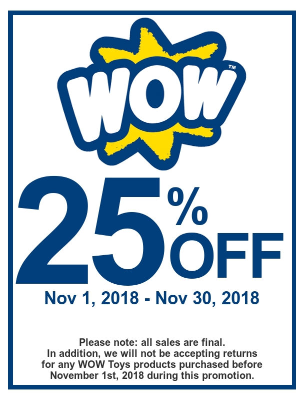 WOW Toys 25% Sale