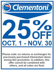 Clementoni 25% Off Sale October to November